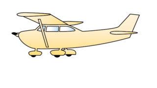 セスナ機の操縦