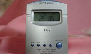 電波時計の時刻合わせ